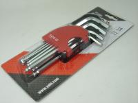 Набор шестигранных ключей Yato YT-0509 10 предметов (1.5-10мм)