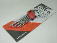Набор ключей Yato YT-0511 9 предметов TORX Т10-Т50 (звездочки короткие)