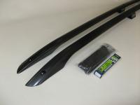 Рейлинги на крышу Voyager MASX-BASY Mitsubishi ASX 2010- черные дуги, алюминиевые опоры (Митсубиши АСХ, Вояджер)