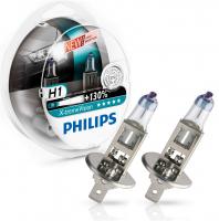 Галогенная лампа PHILIPS X-treme Vision +130% H1 12V 55W комплект 2шт, 12258XV+S2