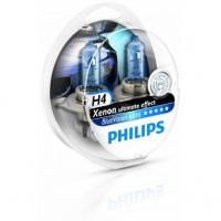 Галогенная лампа PHILIPS BlueVision Ultra H4 12V 60/55W, комплект 4шт,12342BVUSM