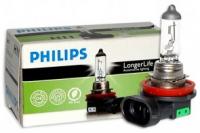 Галогенная лампа PHILIPS LongLifeEcoVision H11 55W 1шт, 12362LLC1