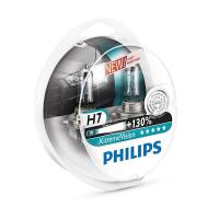 Галогенная лампа PHILIPS X-treme Vision +130% H7 12V 55W комплект 2шт, 12972XV+S2