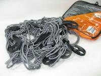 Сетка напольная в багажник Airline AS-S-08 90х130 см (сетка крепления груза серая, 12 пластиковых крюка в комплекте)