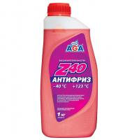 Антифриз AGA Z-40 1кг готовый, красный AGA001Z