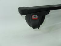 Багажник на крышу на рейлинги Amos Alfa прямоугольные поперечины 1.2м (универсальный на высокий и низкий, интегрированный рейлинг, Амос альфа)