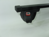 Багажник на крышу на рейлинги Amos Alfa прямоугольные поперечины 1.4м (универсальный на высокий и низкий, интегрированный рейлинг, Амос альфа)