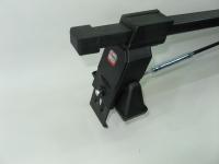 Универсальный багажник для иномарок Amos Tramp AM-2 прямоугольные поперечины 1.3м на гладкую крышу за дверной проем (Амос трамп ам2)