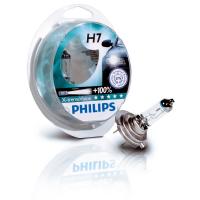 Галогенная лампа PHILIPS X-treme Vision +100% H7 12V 55W комплект 2шт,12972XVS2