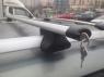 Багажник на крышу на рейлинги Inter Favorit аэродинамические поперечины 1.2м с замками (универсальный на высокий и низкий рейлинг, Интер фаворит)