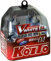 Галогенная лампа KOITO Whitebeam III H4 12V 60\55W (100\90W) 3700K комплект 2 шт, P0746W (высокотемпературная)