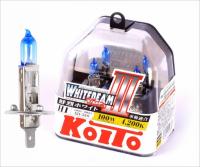 Галогенная лампа KOITO Whitebeam III H1 12V 55W (100W) 4200K комплект 2 шт, P0751W (высокотемпературная)