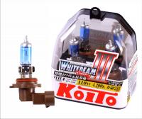 Галогенная лампа KOITO Whitebeam III HB4 12V 55W (110W) 4200K комплект 2 шт, P0757W (высокотемпературная)