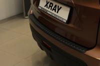 Накладка на задний бампер Lada XRay 2016- АртФорм (Лада Икс Рэй яго)