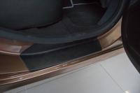 Накладки в проем дверей Lada XRay 2016- АртФорм комплект 4шт (облицовки для порогов Лада Икс Рэй, яго)