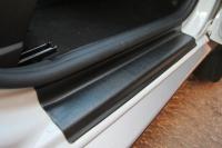 Накладки в проем дверей Renault Duster 2011- АртФорм комплект 4шт (облицовки для порогов Рено Дастер, яго)