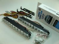 Дневные ходовые огни KS-AUTO KS-025 комплект, 20 диодов белых + 10 диодов желтых поворотников (ДХО)