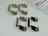 Монтажный комплект передних тормозных механизмов Quartz QZ1200410 (Largus, Logan, Sandero, Duster пластины передних колодок, аналог 410271417R)