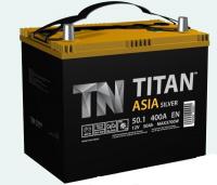 Аккумулятор TITAN ASIA Silver 50 А\ч прямая полярность узкий тонкие клеммы 65В24R
