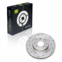 Диск тормозной передний ВАЗ 2112 R14 Trialli DF442 комплект 2шт вентилируемые, перфорированные (диски тормозные 2112, ВАЗ)