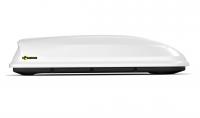 """Бокс-багажник на крышу Аэродинамический Белый """"Turino Sport"""" PT Group 480 л 2100х800х450 одностороннее открывание (ПТ Групп Турино Спорт, аэробокс на крышу автомобиля, 00001724)"""