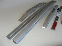 Рейлинги на крышу продольные Nissan X-Trail 2014- OE Style, серебро (Ниссан Икс Трейл)