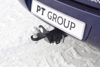 Фаркоп съемный квадрат Lada Granta sedan 2011+ PT Group 01961501 (лада гранта седан тсу прицепное устройство пт групп)