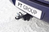 Фаркоп съемный квадрат Lada Granta Universal FL 2018+ PT Group 01921501 (лада гранта универсал тсу прицепное устройство пт групп)