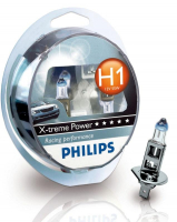 Галогенная лампа PHILIPS X-treme Power +80% H1 12V 55W комплект 2шт, 12258XPS2