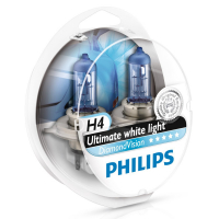 Галогенная лампа PHILIPS DiamondVision H4 12V 60/55W, комплект 2шт, 12342DVS2