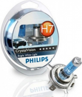 Галогенная лампа PHILIPS CrystalVision H7 12V 55W комплект 2шт, 12972CVSM