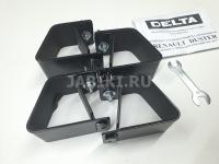Комплект опор багажной системы Delta Renault Duster 2015- черный (адаптеры, установочный комплект Рено Дастер, дельта), D-011-218