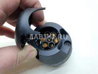 Разъем соединительный прицепного устройства Leader Plus KPL-008 12V 7-контактов (розетка пластиковая фаркопа, тсу)