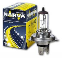 Галогенная лампа NARVA Standart H4 12V 60/55W 1шт, 48881