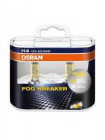 Галогенная лампа OSRAM Fog Breaker H4 12V 60/55W +60% комплект 2шт, 64193FBR-DUOBOX