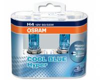Галогенная лампа OSRAM Cool Blue Hyper H4 12V 60/55W комплект 2шт, 64193СВН-DUOBOX