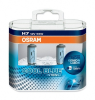 Галогенная лампа OSRAM Cool Blue Intense Н7 12V 55W +20% комплект 2шт, 64210CBI-02B DUOBOX