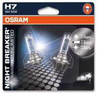 Галогенная лампа OSRAM Night Breaker Unlimited  H7 12V 55W +110% комплект 2шт, 64210NBU-02B