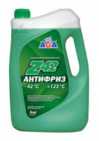 Антифриз AGA Z-42 5кг готовый, зеленый AGA049Z