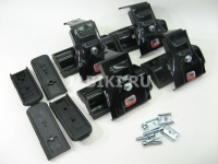 Комплект опор и адаптеров багажной системы Amos Dromader D-4 на гладкую крышу за дверной проем, Амос Дромайдер д4
