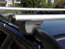 Багажник на крышу на рейлинги Amos Alfa аэродинамические поперечины 1.3м (на высокий рейлинг, Амос альфа)