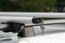 Багажник на крышу на рейлинги Amos Futura аэродинамические поперечины 1.2м (универсальный на высокий и низкий, интегрированный рейлинг, Амос футура)