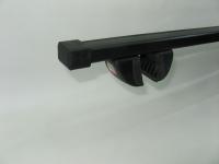 Багажник на крышу на рейлинги Amos Futura прямоугольные поперечины 1.4м (универсальный на высокий и низкий, интегрированный рейлинг, Амос футура)