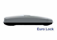 Автобокс YUAGO Antares GT600 Euro Lock серый тиснение 217х85х48 одностороннее открывание (Бокс-багажник на крышу с евро лок Яго Антарес, ДжиТи600)