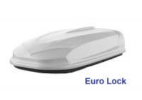 Автобокс YUAGO Avatar EURO Lock 460л белый, тиснение 186х86х46 односторонее открывание (бокс-багажник на крышу с евро лок, Яго Аватар)