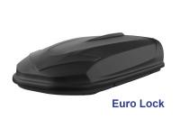 Автобокс YUAGO Avatar EURO Lock 460л черный, тиснение 186х86х46 односторонее открывание (бокс-багажник на крышу с евро лок, Яго Аватар)