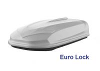 Автобокс YUAGO Avatar EURO Lock 460л серый, тиснение 186х86х46 односторонее открывание (бокс-багажник на крышу с евро лок, Яго Аватар)