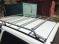 Багажник на крышу Ока корзина, крепление на водосток 4 опоры (разборная конструкция)
