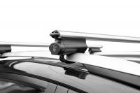 Багажник на крышу на высокие рейлинги LUX Belt аэродинамические поперечины аэро классик (53мм) длина 1.3м, 844017 (белт люкс)
