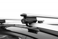 Багажник на крышу на высокие рейлинги LUX Belt аэродинамические крыловидные поперечины аэро-трэвэл (82мм) 1.2м, 846158 (белт люкс)